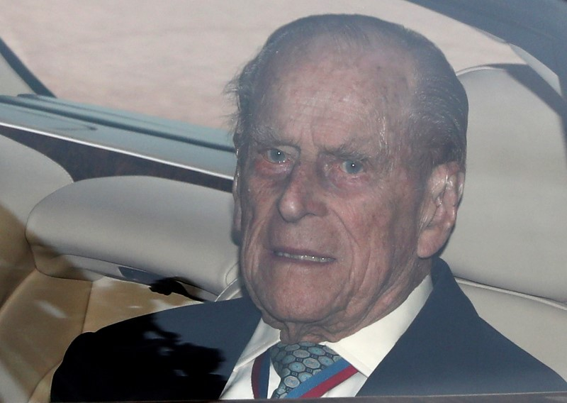 Britain's Prince Philip leaves Buckingham Palace in London on May 4, 2017. (REUTERS/Neil Hall)