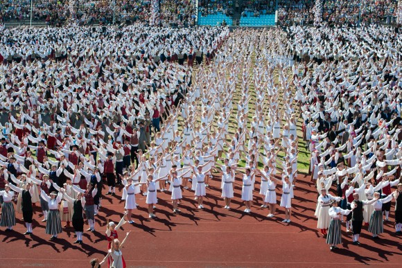 The final performance that completed the 19th Dance Celebration in Tallinn, July 5, 2014. ( Jaanus Ree)