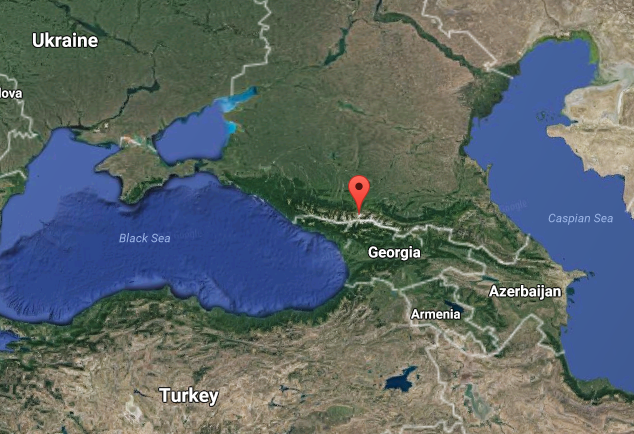 Mount Elbrus is in the Caucasus Mountains in Southern Russia, near the border with Georgia. (Google Maps)