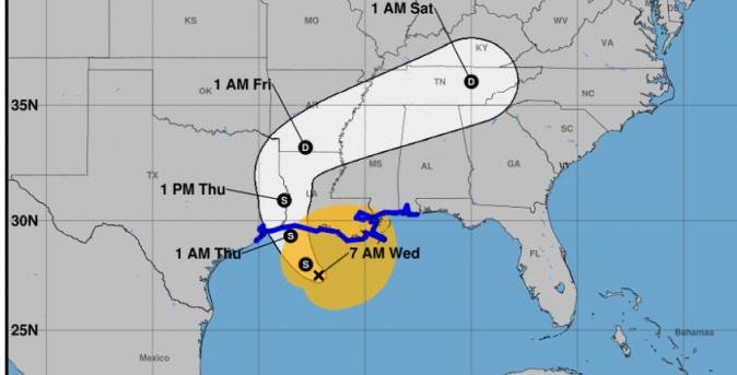 Tropical Storm Cindy's path (NOAA)