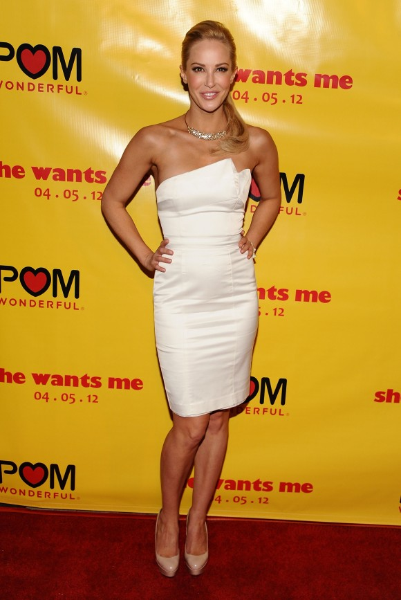 Actress Louise Linton arrives at the 'She Wants Me' Los Angeles premiere at Laemmle's Music Hall 3 on April 5, 2012 in Beverly Hills, California. (Angela Weiss/Getty Images)