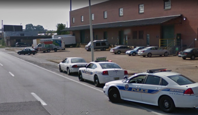 Approximate location on the 4500 block of Riverview Boulevard in St. Louis where Jerome Baker's skull was found. (Google Streetview)