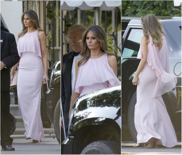 United States President Donald J. Trump and first lady Melania Trump depart the White House in Washington, DC on June 24, 2017. (Ron Sachs/Getty Images)
