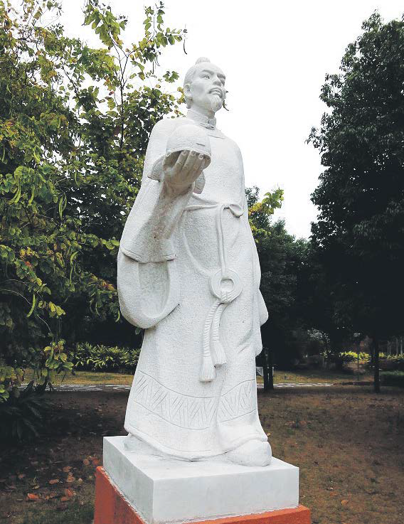 A statue of Zhang Jiuling, the famous, charismatic chancellor of the Tang Dynasty.