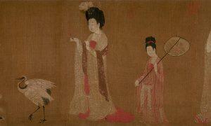 Zhou Fang's 'Court Ladies Wearing Flowered Headdresses'