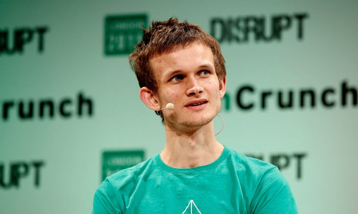 Founder of Ethereum Vitalik Buterin during TechCrunch Disrupt London 2015 - Day 2 at Copper Box Arena in London, England on Dec. 8, 2015.  (John Phillips/Getty Images for TechCrunch)