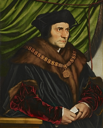 Portrait of Sir Thomas More, by Hans Holbein, the Younger, The Frick Collection. More is accused Richard III of being a politically motivated monster. (Public domain)