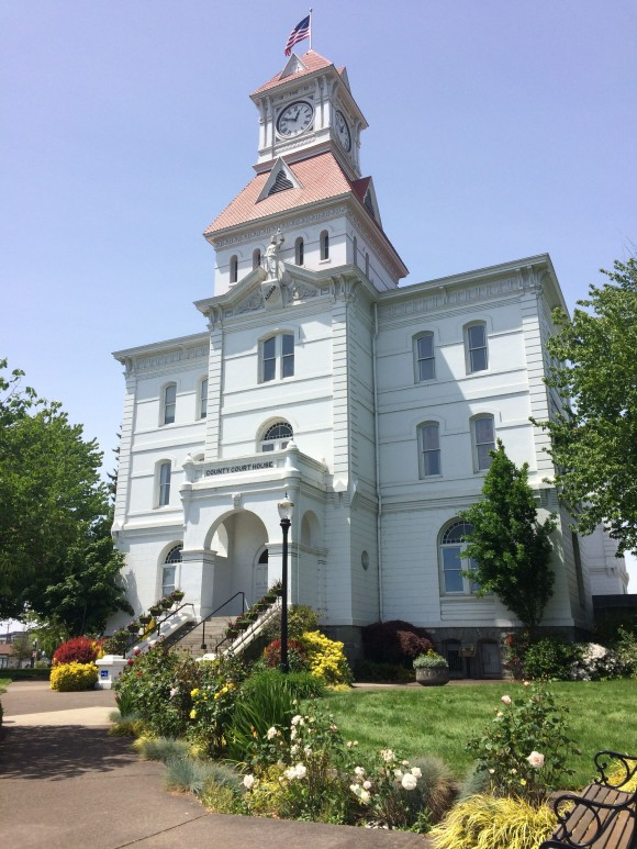 The Circuit Court in Corvallis is the oldest courthouse in Oregon, built in 1888. (Beverly Mann)