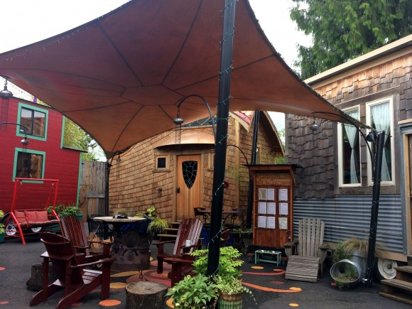 Caravan – The Tiny House Hotel on 11th Ave. in Portland. (Beverly Mann)