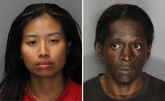 Angela Phakhin and Untwan Smith were arrested on child endangerment and conspiracy charges. (SACRAMENTO COUNTY SHERIFF'S DEPARTMENT)