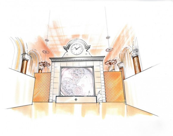 Sketch of the entrance to