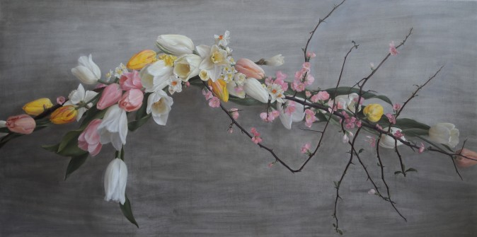 """""""Ode to Spring,"""" 2017, by Katie G. Whipple. Oil on wood, 24 inches by 48 inches. (Courtesy of Katie G. Whipple)"""