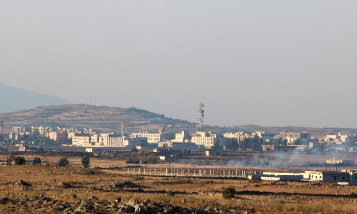 A general view shows Baath city, bordering Golan Heights on June 24, 2017. (REUTERS/Alaa Al-Faqir)