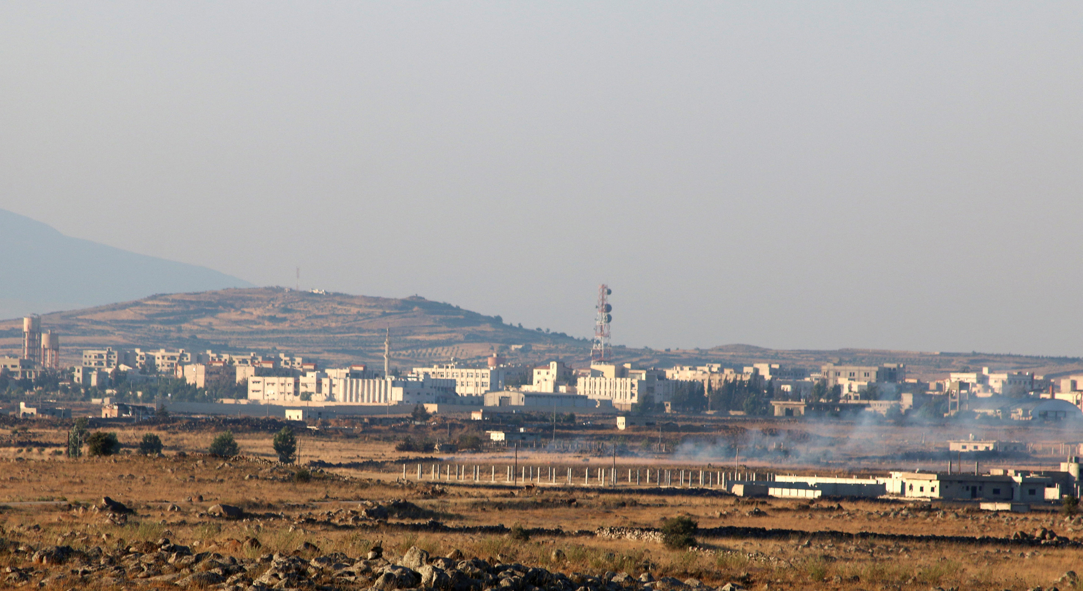 A general view shows Baath city, bordering the Israeli-occupied Golan Heights, Syria on June 24, 2017. (REUTERS/Alaa Al-Faqir)