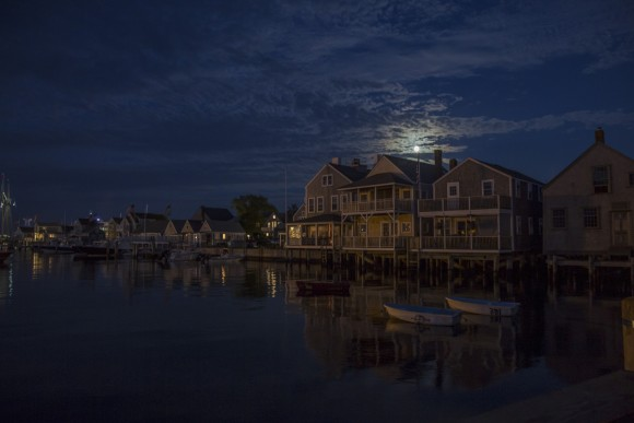 Moon over Nantucket, Mass., on July 8, 2017. (Samira Bouaou/The Epoch Times)