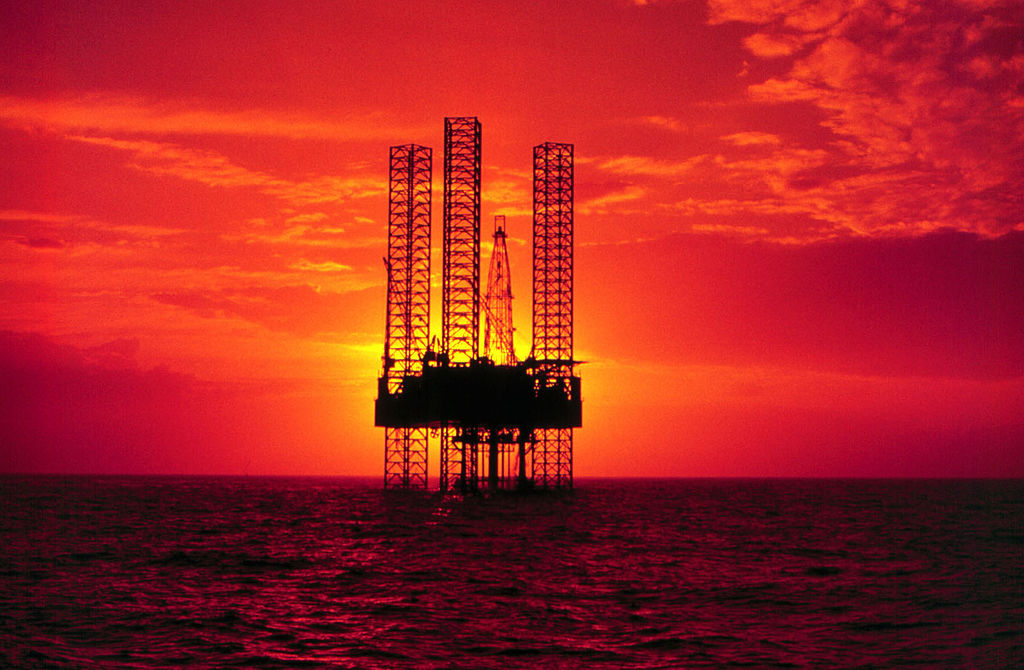 Pennzenergy Company Oil Exploration Drilling Rig In The Gulf Of Mexico During Sunset. (Photo By Getty Images)