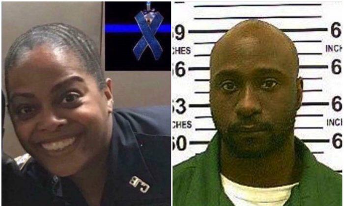 L: NYPD Officer Miosotis Familia; R: Alexander Bonds. (NYPD)