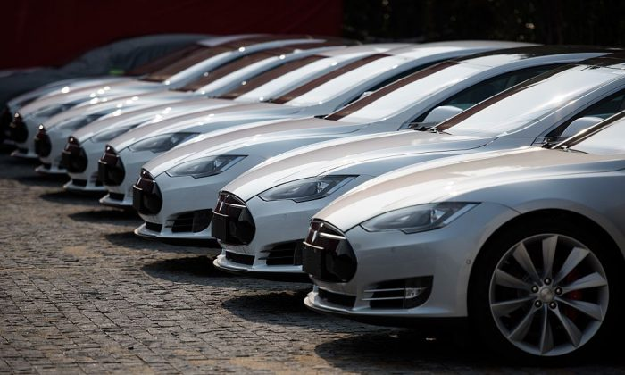 Tesla's stock drops as the Model 3 readies for Friday production.  (JOHANNES EISELE/AFP/Getty Images)