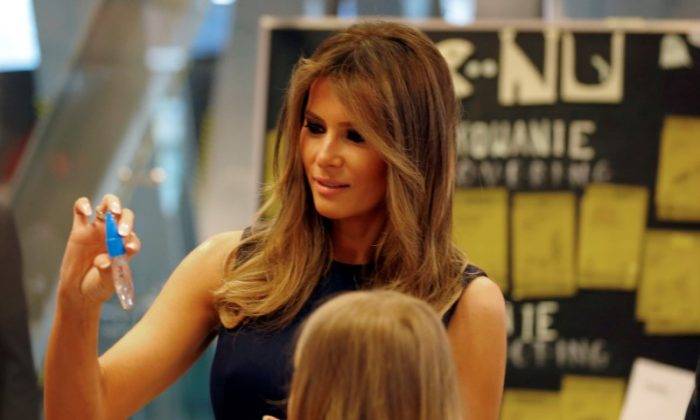 First Lady of the U.S. Melania Trump visits the Copernicus Science Centre in Warsaw, Poland July 6, 2017. (REUTERS/Laszlo Balogh)