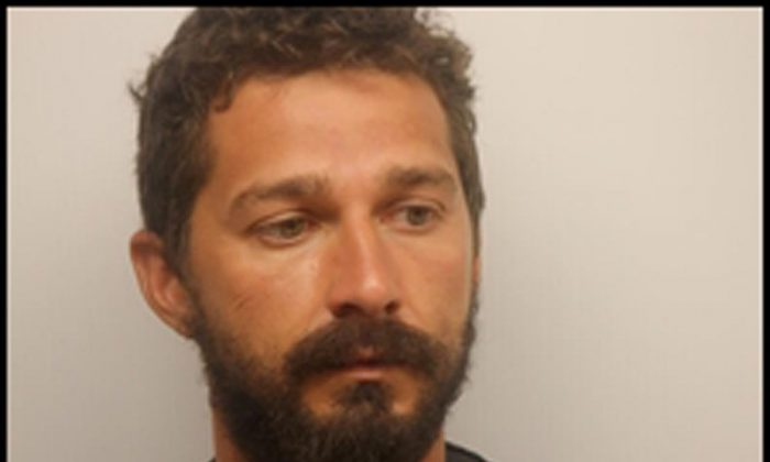 Actor Shia LeBeouf is pictured in Savannah, Georgia, U.S. in this July 8, 2017 handout photo. (Chatham County Sheriff's Office/Handout via Reuters)