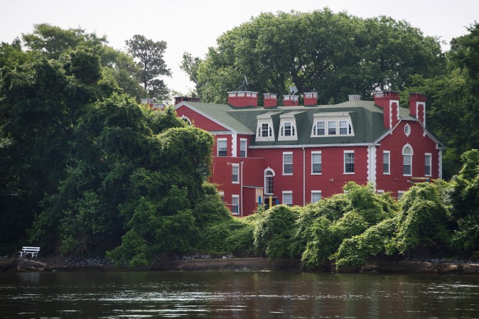 Part of the Russian Federation's riverfront compound is seen from the water on Maryland's Eastern Shore in Centreville, Maryland on June 16, 2017. (Jim Watson/AFP/Getty Images)