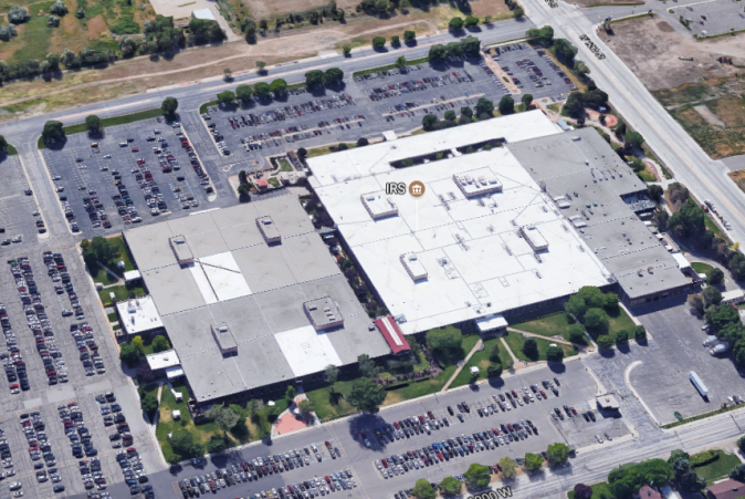 The IRS building located in Ogden, Utah. (Google Maps)