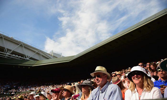 during day five of the Wimbledon Lawn Tennis Championships at the All England Lawn Tennis and Croquet Club in London, England on July 3, 2015. (Getty Images)