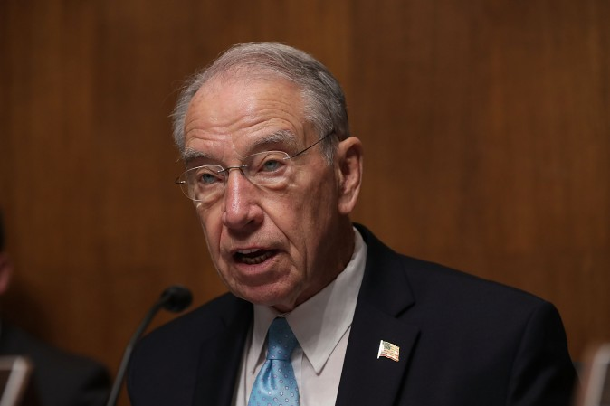 Chairman of the Senate Judiciary Committee Chuck Grassley in Washington on Sept. 20, 2016. (Alex Wong/Getty Images)