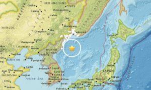 Moderate Earthquake Strikes in Sea Near North Korea