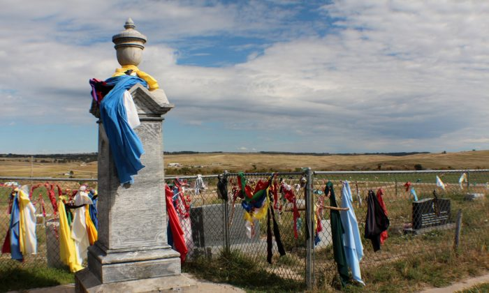 Cemetery at Wounded Knee. (Myriam Moran copyright 2014)