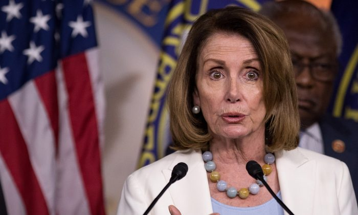 House Minority Leader Nancy Pelosi (D-CA) speaks during a press conference on Capitol Hill, June 27, 2017 in Washington, DC. (Drew Angerer/Getty Images)