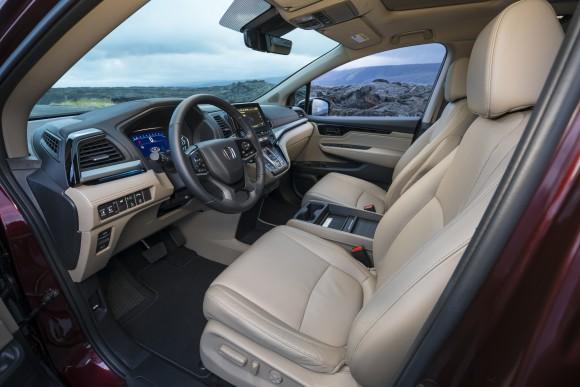 The interior of the 2018 Odyssey. (Courtesy of Honda)