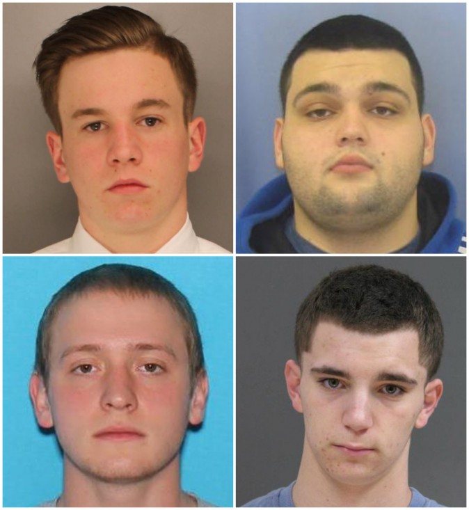 The four missing men (Top L, clockwise) Jimi Patrick, Mark Sturgis, Dean Finocchiaro, and Thomas Meo. (Bucks County District Attorney's Office)