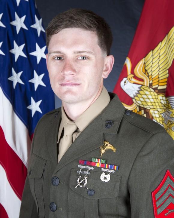 Sergeant Chad E. Jenson of 2D Raider Battalion in Camp Lejeune, North Carolina. (Photo via U.S. Marine Corps Forces Reserve)