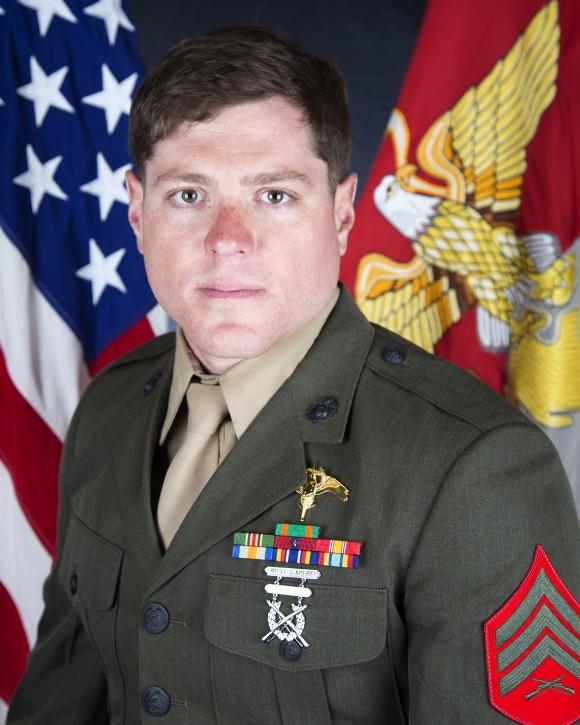Sergeant Talon R. Leach of 2D Raider Battalion in Camp Lejeune, North Carolina. (Photo via U.S. Marine Corps Forces Reserve)