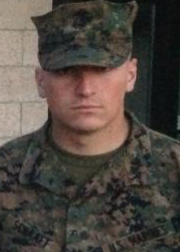 Corporal Collin J. Schaaff of VMGR-452 in Orange County, New York. (Photo via U.S. Marine Corps Forces Reserve)