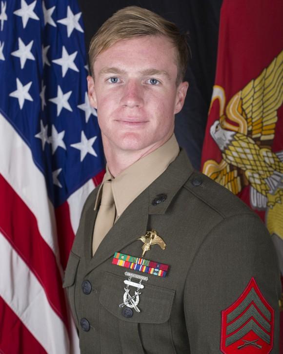Sergeant Dietrich A. Schmieman of 2D Raider Battalion in Camp Lejeune, North Carolina. (Photo via U.S. Marine Corps Forces Reserve)