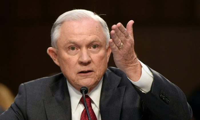 Attorney General Jeff Sessions on Capitol Hill in Washington, D.C., on June 13, 2017. (Saul Loeb/AFP/Getty Images)