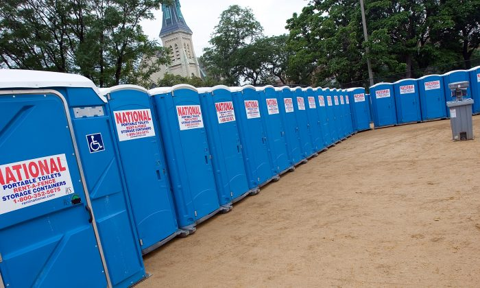 Port-o-potties in Chicago.  (Photo by Roger Kisby/Getty Images)