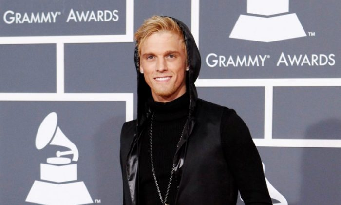 File photo: Singer Aaron Carter poses on the red carpet at the 52nd annual Grammy Awards in Los Angeles January 31, 2010. (Reuters/Mario Anzuoni/File Photo)