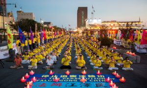 Falun Gong Practitioners Demand End to Eighteen Years of Persecution