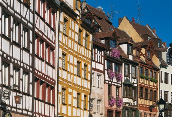 Nuremberg is famous for its half-timbered houses. (Congress & Tourismus Zentrale Nürnberg/Andrew Cowin)