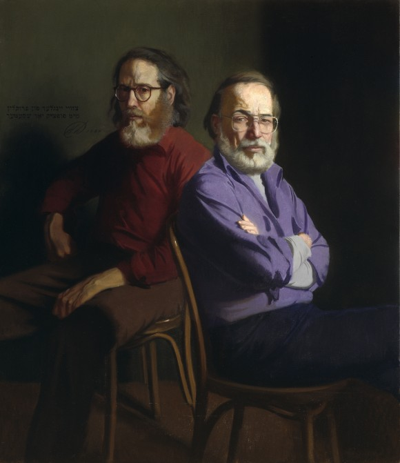 """Self-Portrait with Burt Silverman,"" 1987, by Harvey Dinnerstein. Oil on canvas, 38.5 inches by 31.5 inches. (Courtesy of Harvey Dinnerstein)"