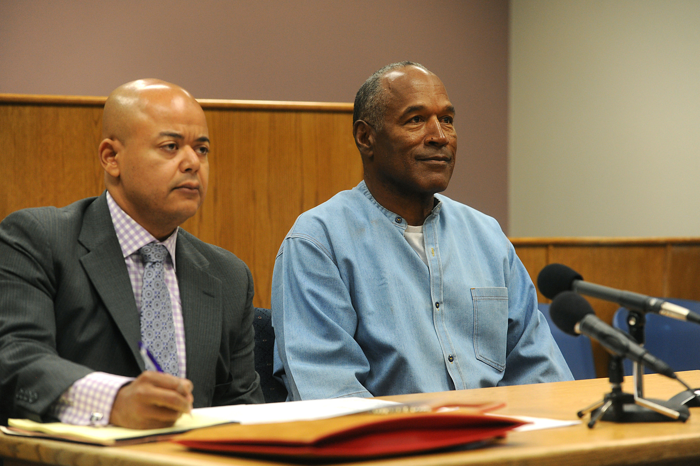 O.J. Simpson arrives for his parole hearing at Lovelock Correctional Centre in Lovelock, Nevada on July 20, 2017. (REUTERS/Jason Bean/POOL)