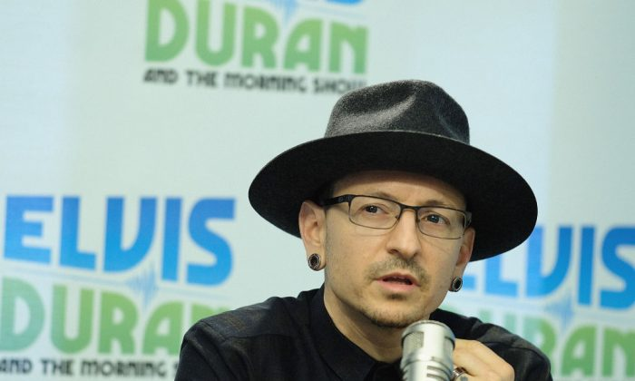 Chester Bennington at an event in New York City on Feb. 21, 2017.  He reportedly killed himself on Thursday,  July 20.   (Dimitrios Kambouris/Getty Images)