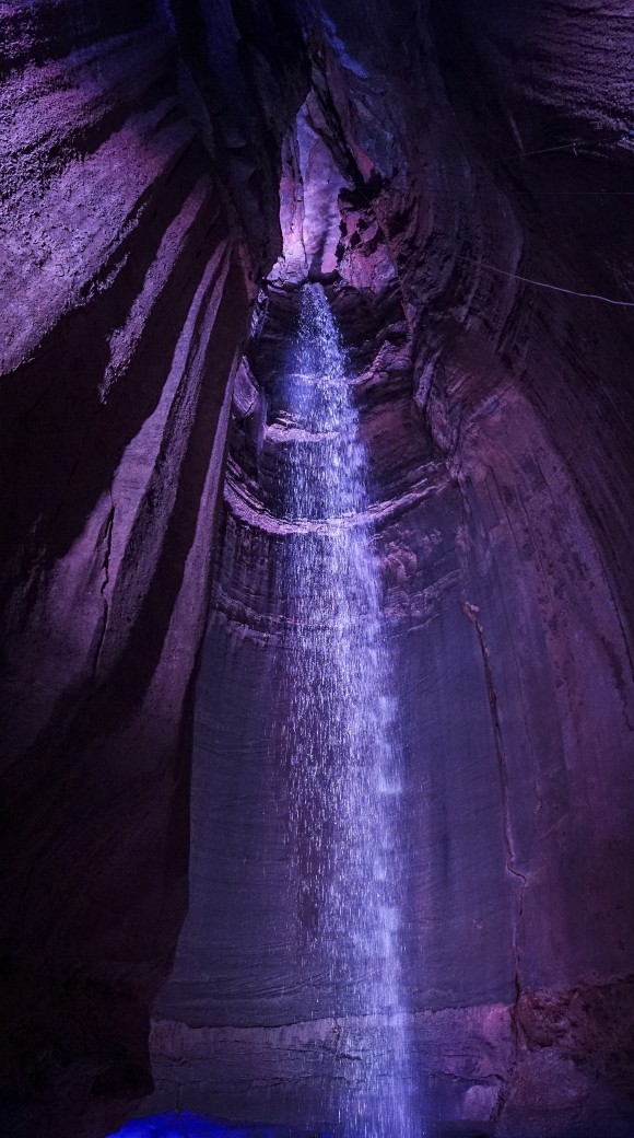 Ruby Falls is the largest and deepest underground waterfall open to the public in America. (Crystal Shi/The Epoch Times)