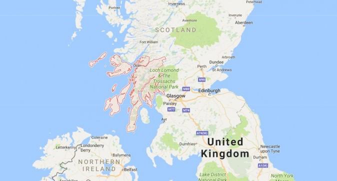 Argyll, Scotland (Google Maps)