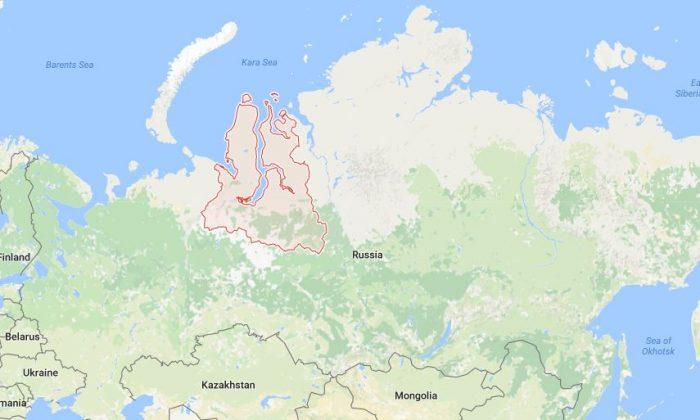 The Yamalo-Nenets region, where the mummies were found (Google Maps)