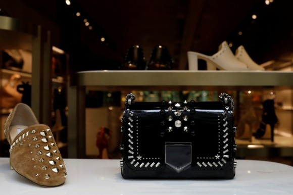 Products are displayed in the window of the Jimmy Choo store in New York City, U.S., April 24, 2017. (Reuters/Brendan McDermid)
