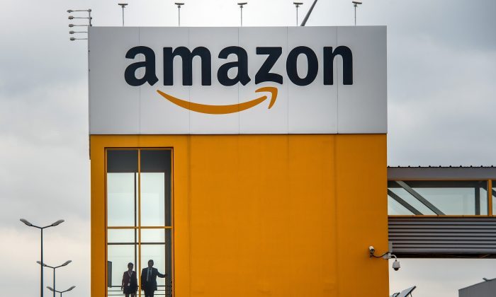A photo taken on April 11, 2015 in Lauwin-Planque, northern France, shows a site of the Amazon electronic commerce company.  AFP PHOTO PHILIPPE HUGUEN        (Photo credit should read PHILIPPE HUGUEN/AFP/Getty Images)